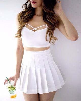 vestido blanco casual