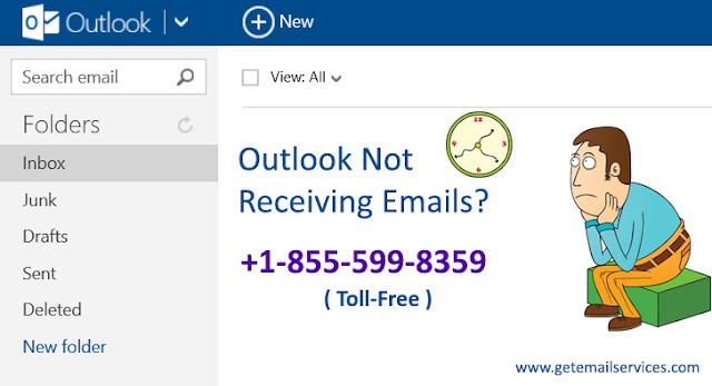 Email Help: outlook not getting emails