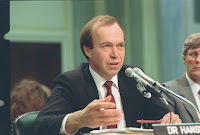 James Hansen testifies in 1981 (Credit: AP / Dennis Cook) Click to Enlarge.