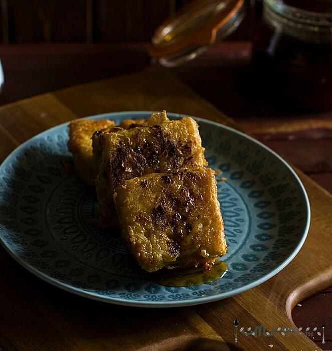 torrijas de pan de cea y queso de tetilla