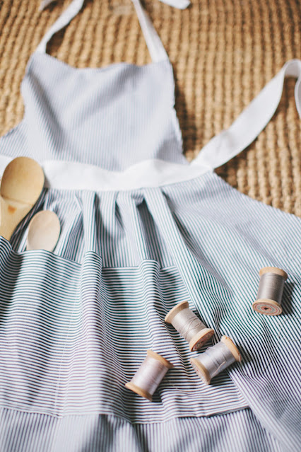 how to sew a gathered apron