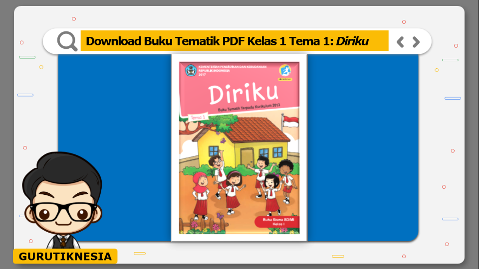 download buku tematik pdf  kelas 1 tema diriku