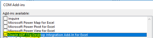 Excel and System Settings for ADFDI in Oracle Fusion