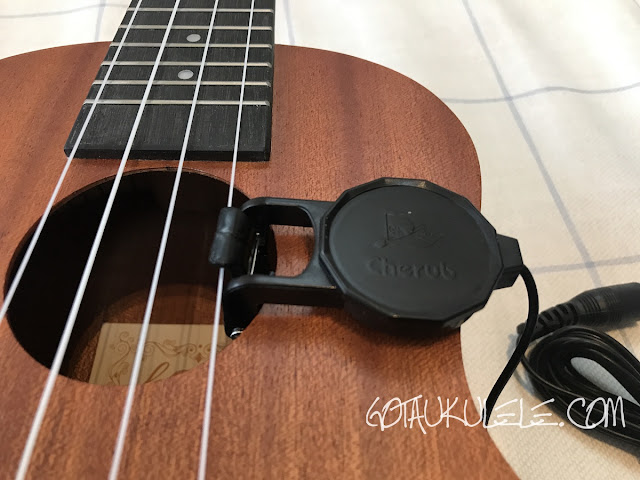 cherub ukulele pickup in sound hole