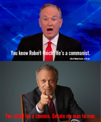 Reich challenges O'Reilly to debate him