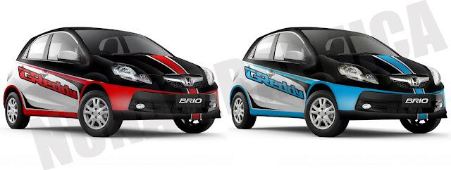 Honda brio rally sticker keren