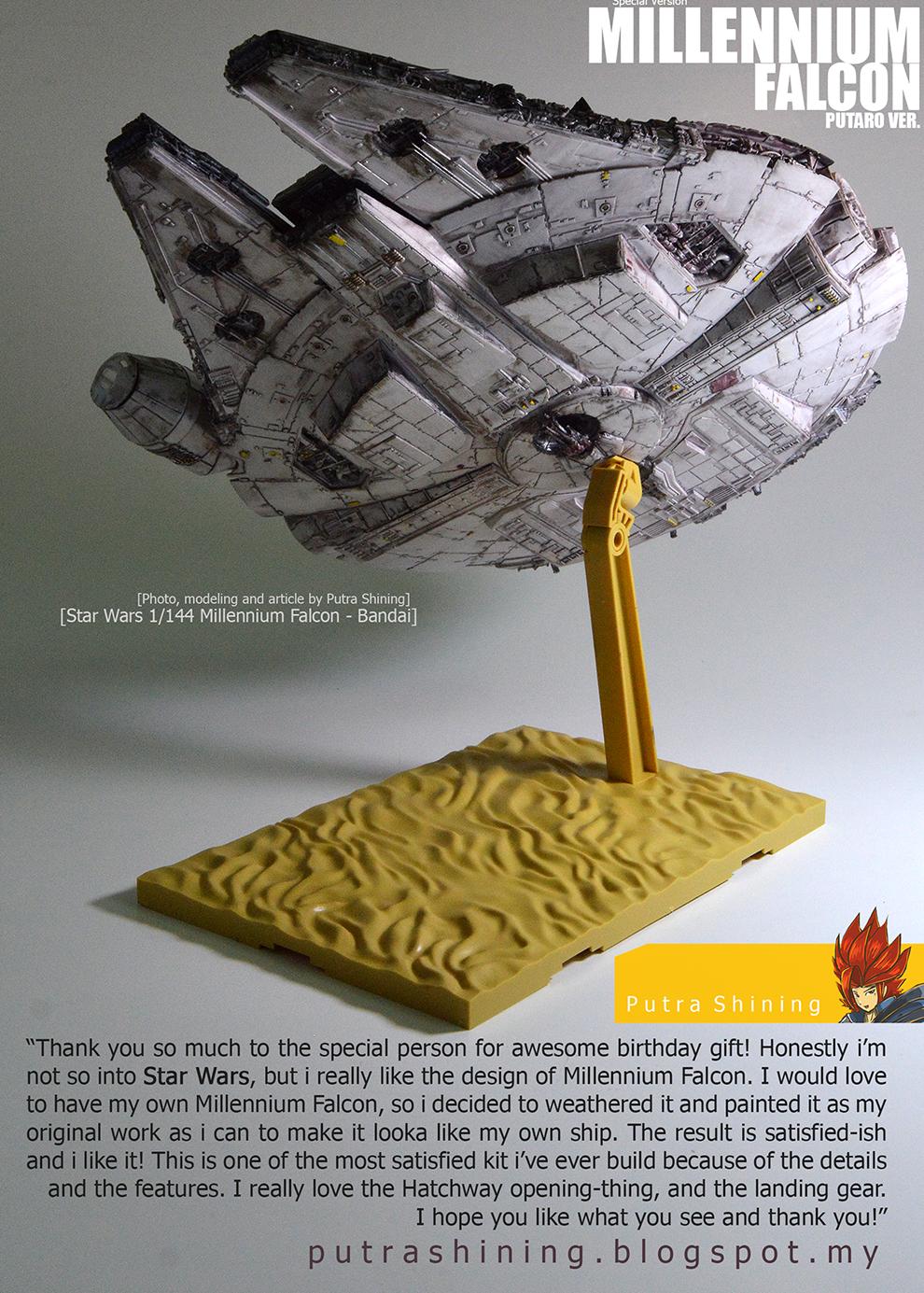 Bandai Star Wars: 1/144 Millennium Falcon Custom Putaro Ver. by Putra Shining