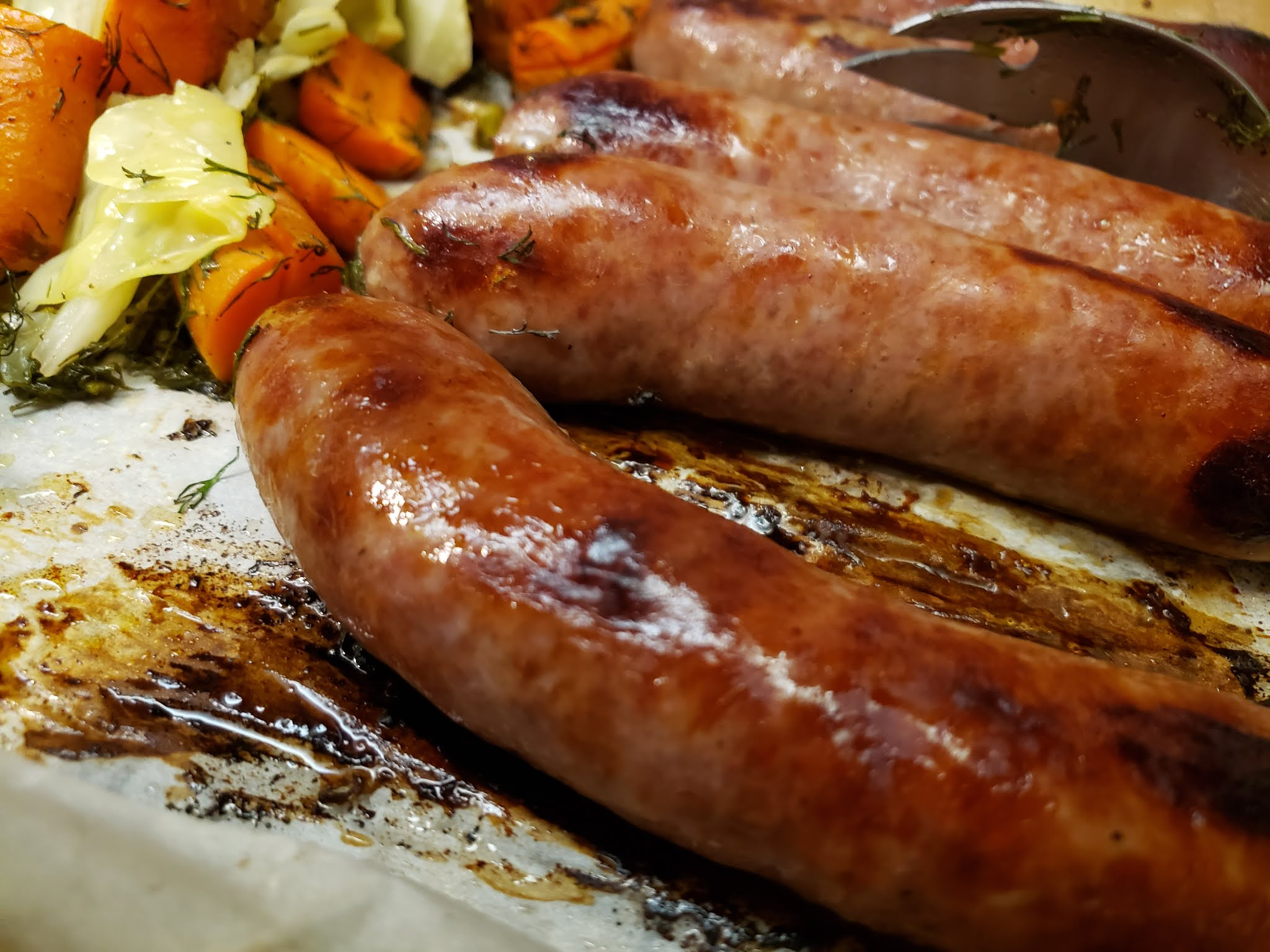 Sheet Pan Sausage And Carrots
