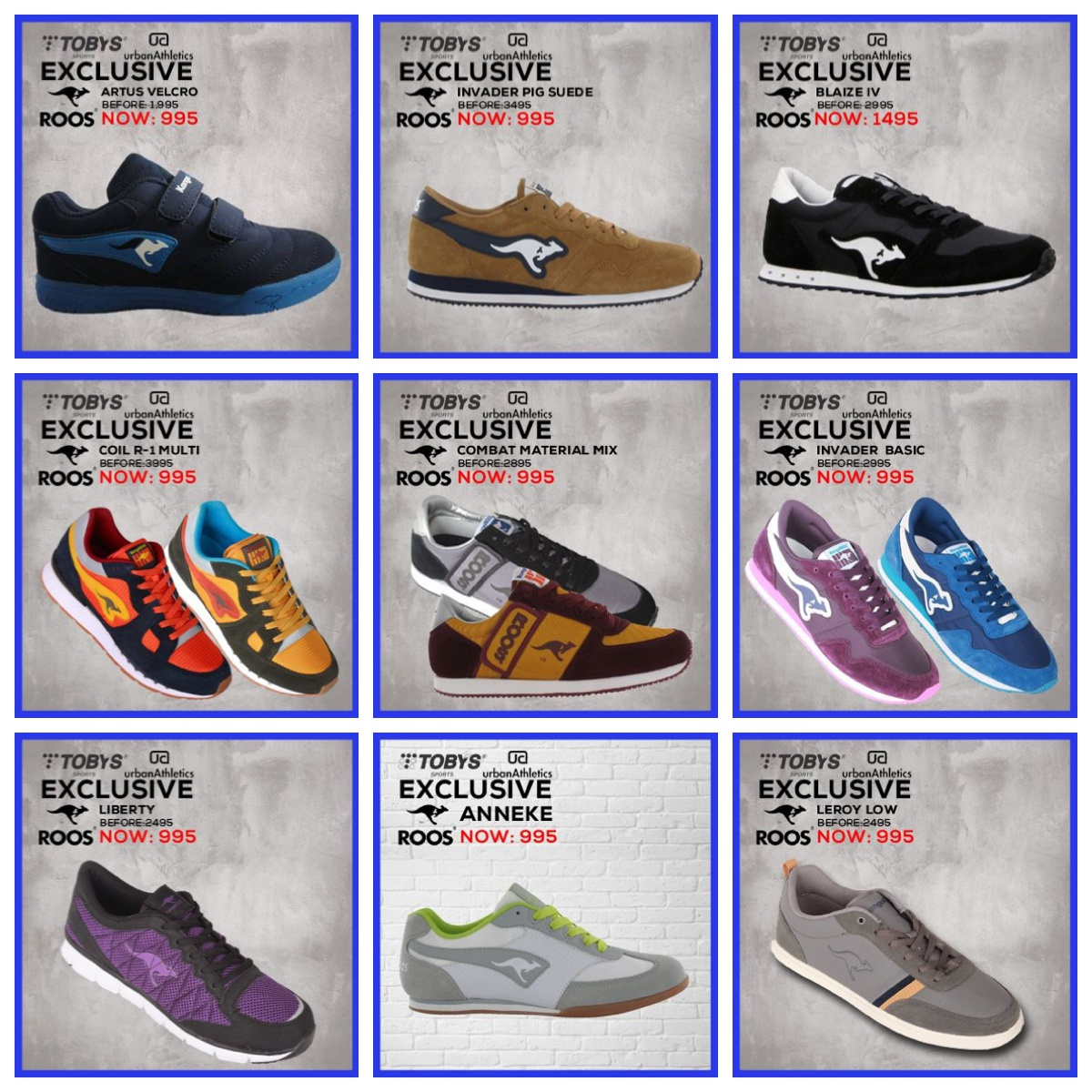 5374229d61 Roos Sale at Toby's Sports | Analykix