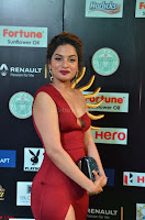Natasha Nebasha in a Leg Slit Sleeveless Stunning Red Gown at IIFA Utsavam Awards 2017 014.JPG