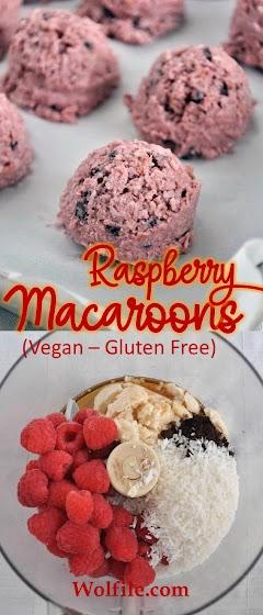 Raspberry Macaroons (Vegan and Gluten Free)