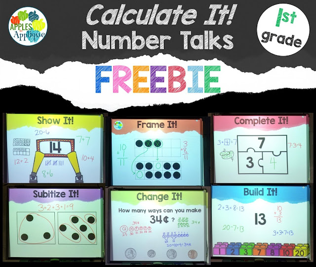 Calculate It! Number Talks FREEBIE | Apples to Applique