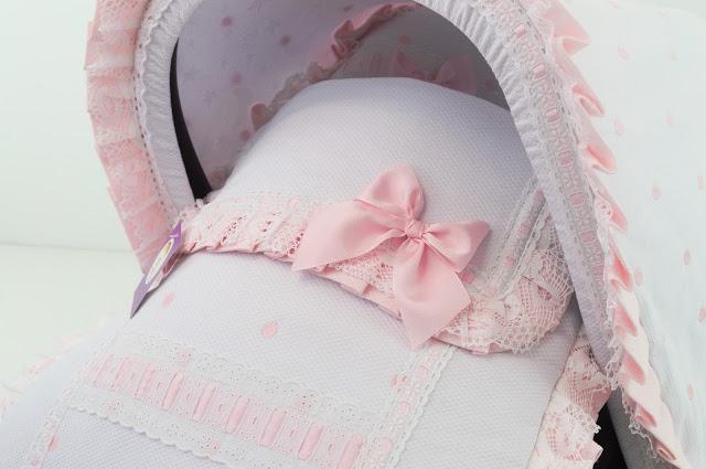 Saco capota grupo 0 blanco rosa