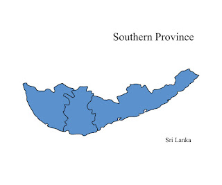 free download vector editable svg map of southern province sri lanka