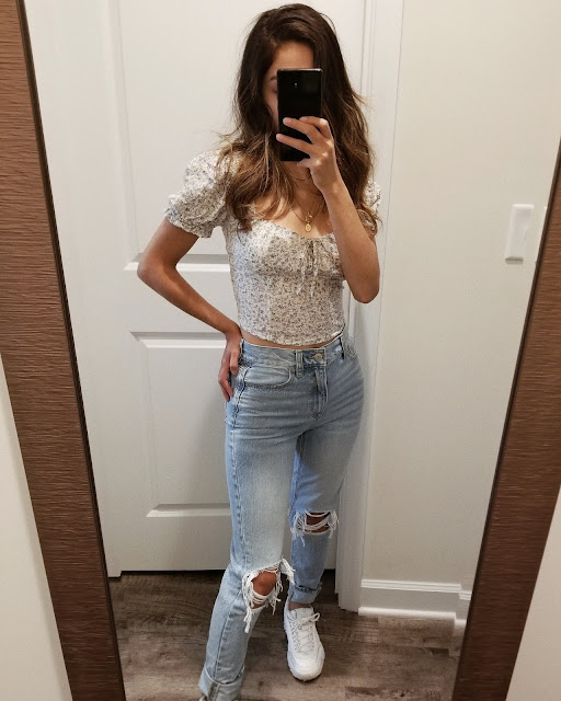 american eagle try on haul fall 2019, american eagle mom jeans uber cool