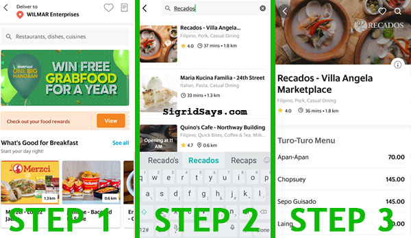 GrabFood, Grab, Better everyday, Bacolod restaurants, Bacolod food, cansi steak, cansi, batchoy, KBL, sizzling cansi steak, Bacolod food tourism, food delivery service, business, food delivery app, Bacolod food delivery service, Bacolod blogger - driver - rider - delivery guy - how to order food from GrabFood - steps to order food from GrabFood