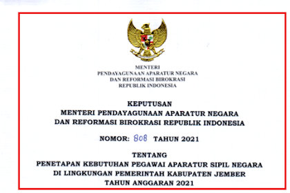 Formasi CPNS & PPPK Guru Kabupaten Jember Tahun 2021