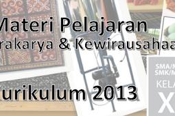 Materi Prakarya dan Kewirausahaan Kelas 11 Semester 1&2