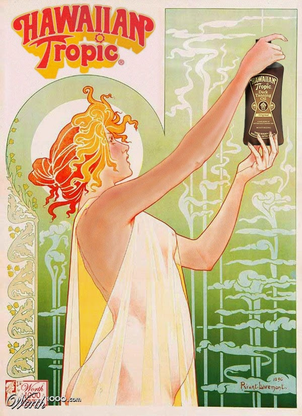 New Products Old Ads - Sun Tan Lotion