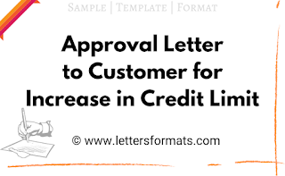 Sample Approval Letter to Customer for Increase in Credit Limit