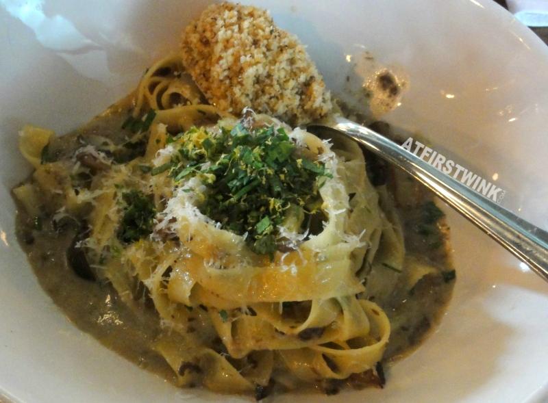 Jamie's Italian Markthal porcini fettuccine spoon of herby breadcrumbs