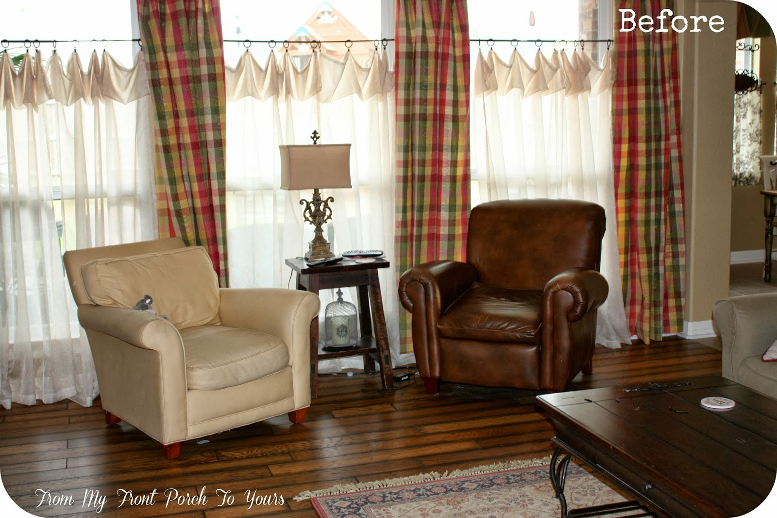 From My Front Porch To Yours: French Farmhouse Living Room ... on Farmhouse Curtain Ideas For Living Room  id=92070