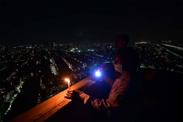 India Lights Millions Of Candles, Lamps To Fight 'Darkness Of Coronavirus' On PM Modi's Request
