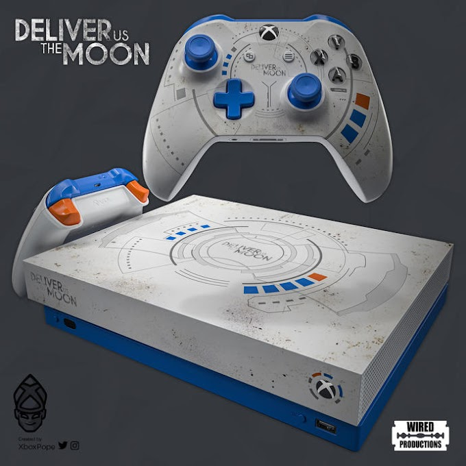 Win a custom Xbox One X with Deliver Us The Moon