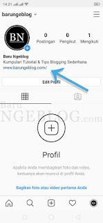 Cara Mengaitkan Alamat Blog ke Instagram