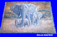 elephant blanket throw tapestry family usa