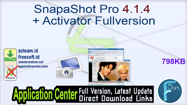SnapaShot Pro 4.1.4 + Activator Fullversion