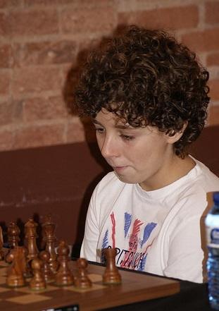 El joven ajedrecista Josep Navajas i Àlvarez