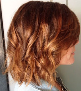 corte bob choppy color marron