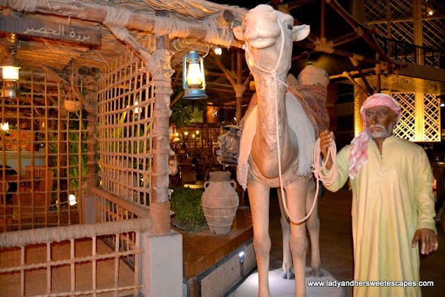 displays at Al Fanar restaurant, Dubai Festival City