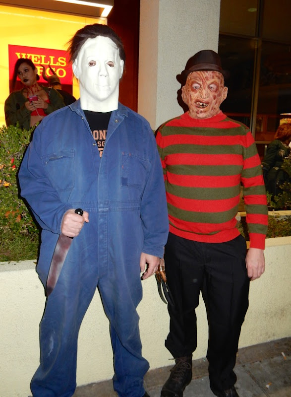 Michael Myers Freddy Krueger costumes West Hollywood Halloween