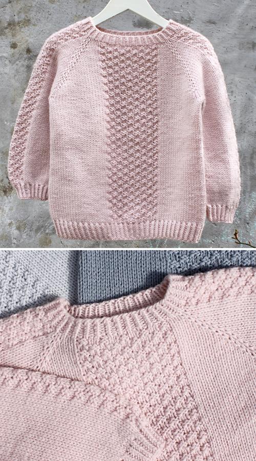 Perlestykke Pullover - Knitting Pattern