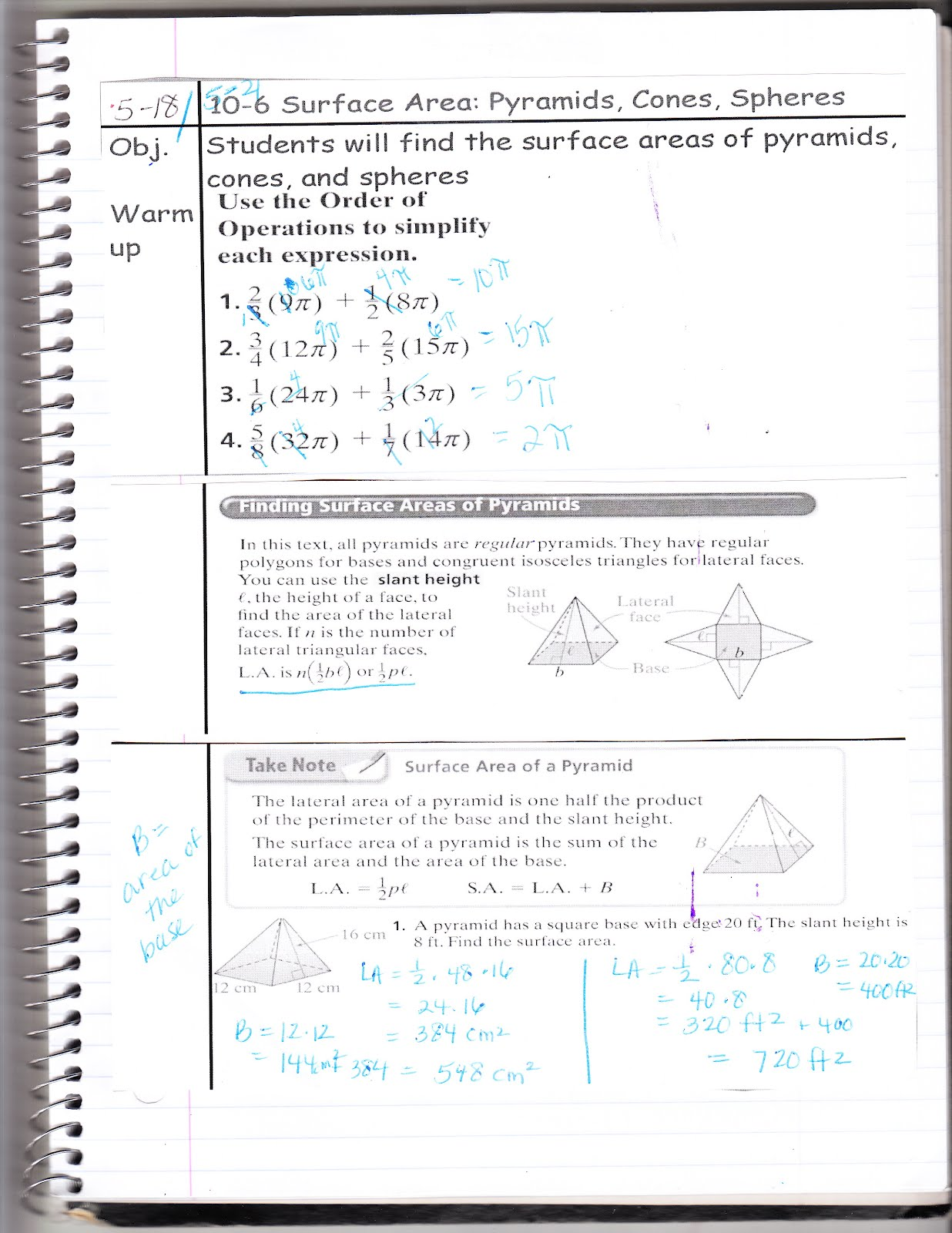 Ms Jean S Classroom Blog 10 6 Surface Area Pyramids