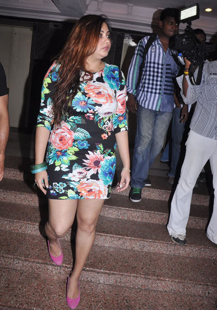 Namitha Kapoor Milky Thighs And Hot Legs In Floral Dress At Moto Show
