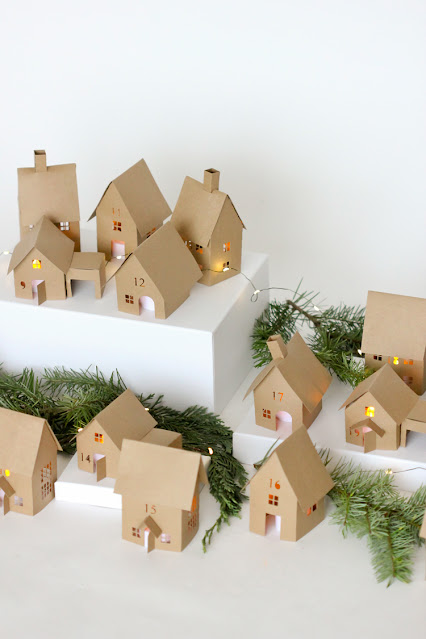 how to make a paper christmas village