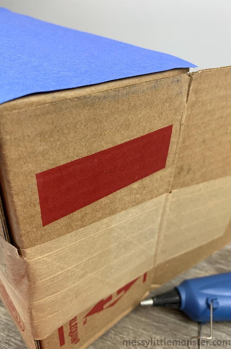 cardboard box car garage craft