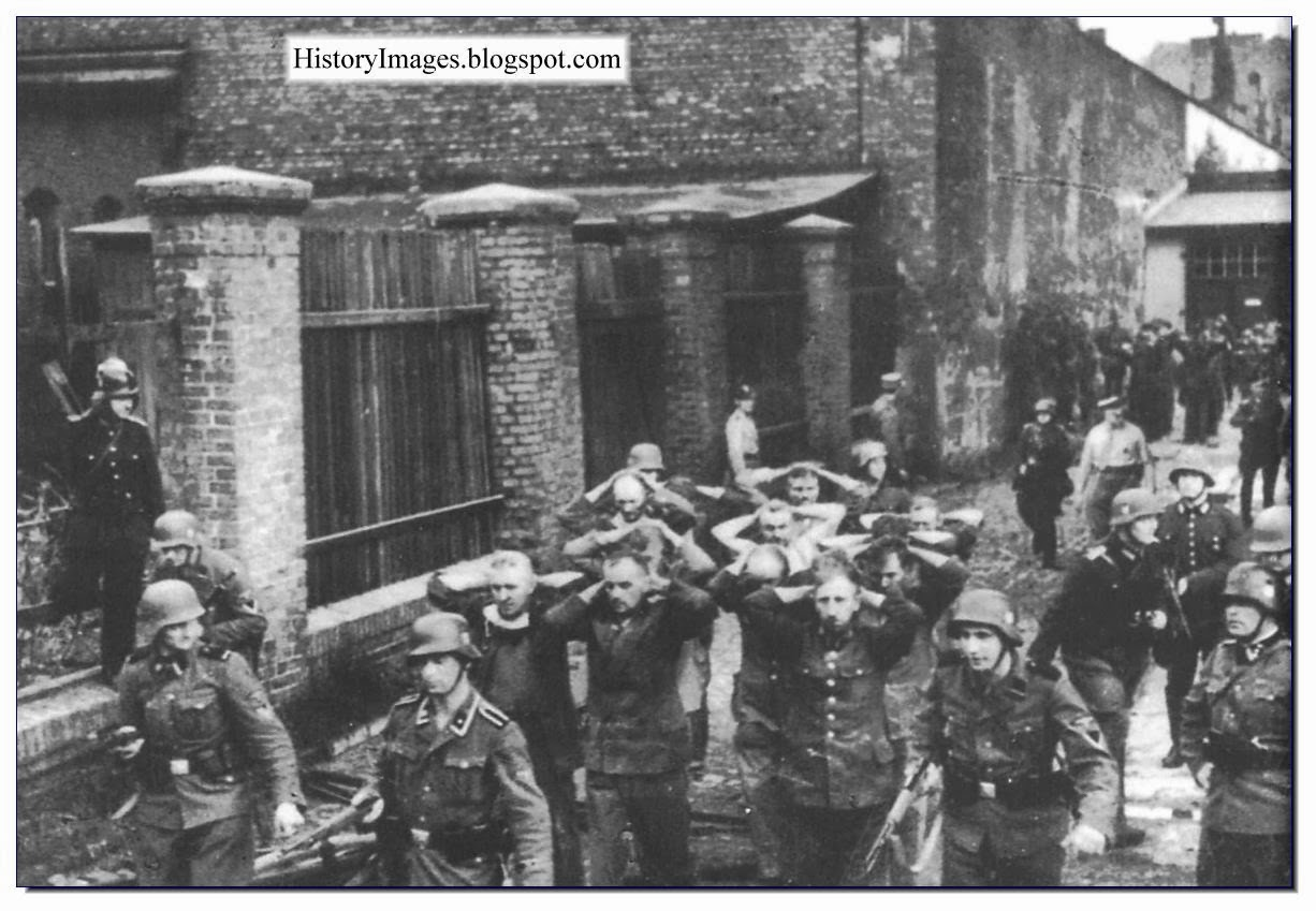 Polish employees Danzig post office captured September 1939 Rare WW2 Image