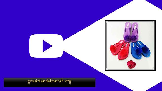 Peluang Bisnis Grosir Sandal Murah || AB Rai Teplek Pompom DWS
