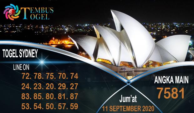 Prediksi Bagus Togel Sidney Jum'at 11 September 2020
