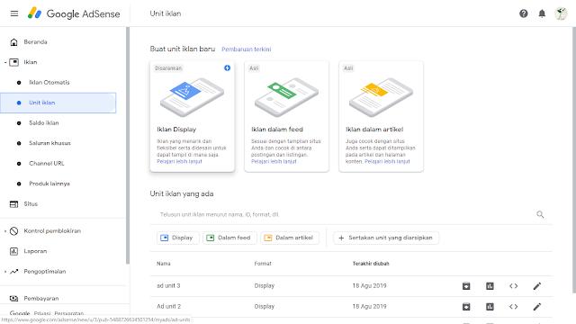 Cara Menampilkan Iklan Link Penelusuran Berseponsor di Akun Google Adsense Baru 2019