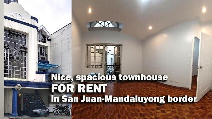 FOR RENT : Nice Newly Renovated Townhouse along San Juan-Mandaluyong Border