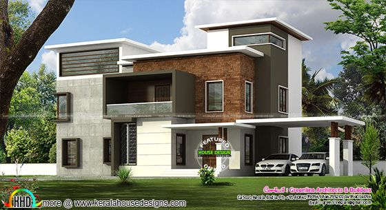 3098 sq-ft Kerala box type home plan