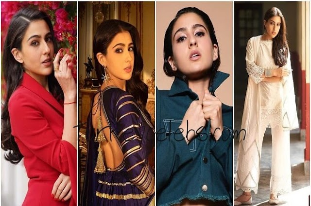 The fashion of Sara Ali Khan is the natural fusion of style and custom.