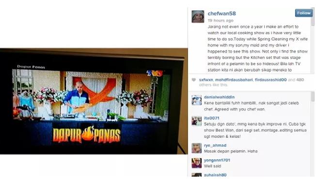 """""""Chef Realiti TV Masih Mentah!"""" - Chef Wan"""