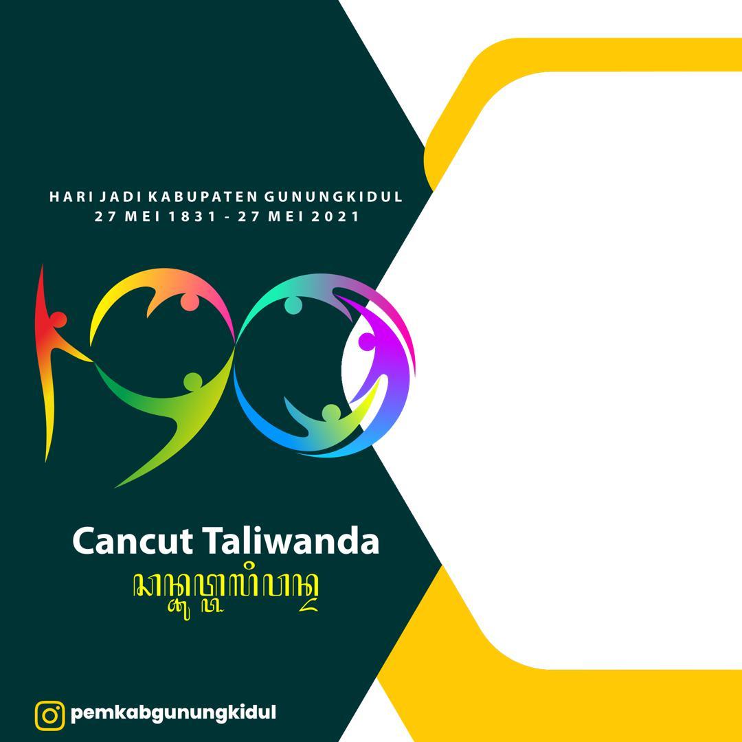 Desain Bingkai Twibbon Hari Jadi Gunungkidul 2021 - Twibbonize Dirgahayu Gunungkidul 2021