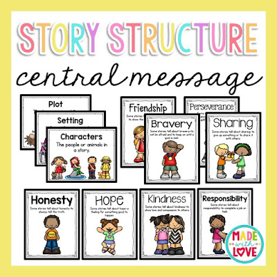 https://www.teacherspayteachers.com/Product/Story-Structure-and-Central-Message-2464962